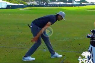 Las muy diferentes rutinas de calentamiento de Collin Morikawa y el «Pro» de la PGA Brad Marek