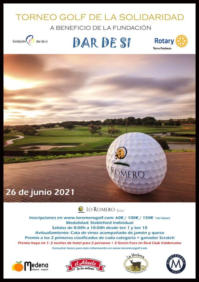 Cartel-Torneo-de-la-Solidaridad Dar de Si Lo Romero Golf