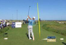 Woodland se quedó a un palmo del Hoyo en Uno en el PGA Champ. en uno de los momentos del día