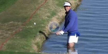 Gonzalo Fdez.-Castaño abre esta recopilación con los mejores golpes desde dentro del agua en el PGA