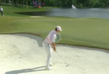 Rory brilló en la arena en un momento clave: ¡qué approach para dejarse un sencillo birdie!