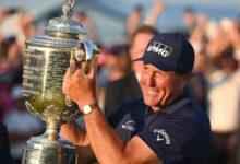 ¿Ven como la edad es sólo un número? Mickelson consigue a los 50 años su 2º PGA Champ. Rahm, T8