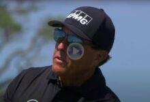 Momentos destacados de Phil Mickelson en el PGA Championship donde el zurdo está que se sale