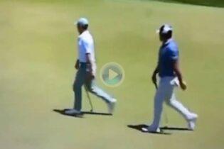 ¡Increíble! Este vídeo en el que se ve a McIlroy y Koepka en el green parece sacado de un videojuego