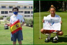 Sergio Jiménez y Rocío Tejedo, campeones Sub 16 de España tras imponerse en Alenda y Alicante Golf