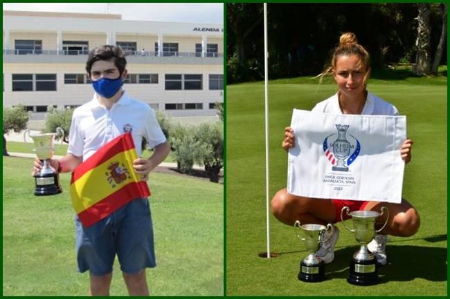 Sergio Jiménez y Rocío Tejedo Campeones de España Sub 16
