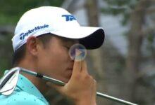 El Golf es duro… Morikawa perdió el Memorial en el 6 con este golpe con el que ¡¡no movió la bola!!
