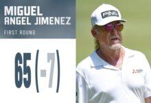 2 eagles y 4 birdies encumbran a Miguel Ángel Jiménez hasta lo más alto de la tabla en Wisconsin