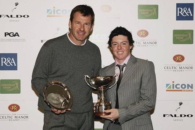 Nick Faldo con Rory McIlroy
