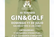 Font del Llop celebra la tercera edición del Torneo Gin&Golf, será el próximo domingo 11 de julio