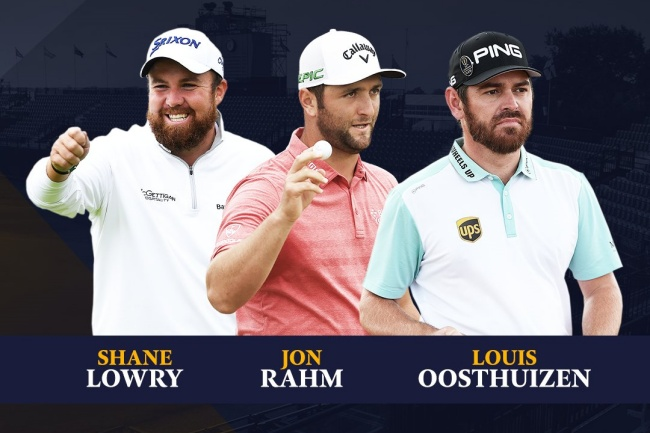 Jon Rahm, Shane Lowry, Louis Oosthuizen, The Open 21, Royal St Georges,