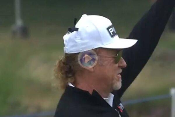 ¡Albatros de Miguel Ángel Jiménez en el 1 del Senior Open! El español restaba ¡3 golpes! al primer hoyo