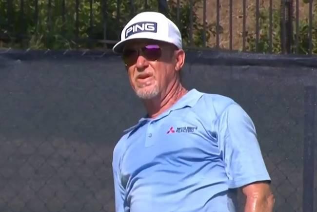 Miguel Ángel Jiménez en el US Senior Open 2021 dia 2