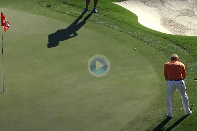 Los mejores golpes del PGA jugados con la punta del putt. Una genialidad de Jiménez entre ellos