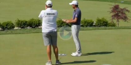 Así fue el entrenamiento de Collin Morikawa antes de enfrentarse a la ronda final del Open