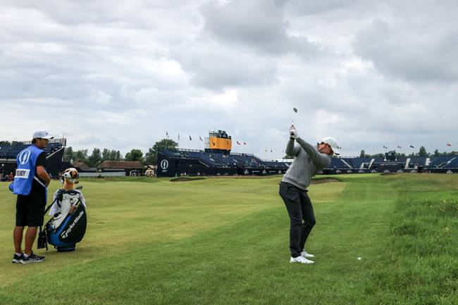 Rory McIlroy Royal St Georges. Foto @TheOpen