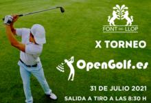 OpenGolf se viste de gala para la celebración de su X Torneo. Será en Font del Llop el próximo 31 Julio