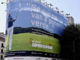 ACCIONA será el principal patrocinador del Open de España. Será el primero con un impacto positivo