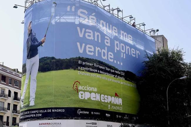 ACCIONA, será el principal patrocinador del Open de España. Será el primero con un impacto positivo