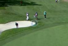 El recién graduado en el Korn Ferry Alex Smalley se licenció en el PGA con esta gran sacada de bunker