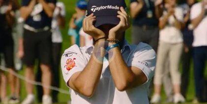 Ángel Hidalgo no pudo evitar las lágrimas tras ganar en Alemania. Así lo celebraron en el green
