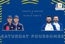 Jon y Sergio volverán a abrir el campo ante Berger y Koepka este sábado (Ver HORARIOS y PARTIDOS)
