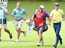 Niemann jugó su vuelta en una hora y 53′, record en East Lake. El chileno decidió jugar «Speed Golf»