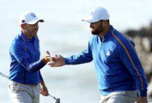 ¡Sergio y Jon no se rinden! Los españoles vuelven a reinar en los foursomes y dan a Europa otro punto