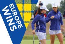 Europa apabulla a EEUU en la primera jornada de Foursomes. Las europeas suman 3 ½ por ½ de USA