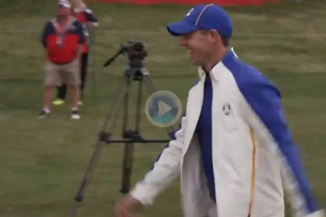 Sergio García y Rory McIlroy se divierten imitando a Ronaldo con su famosa celebración: salto y grito