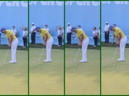 El putt ganador de Rafa Cabrera en el Open de España y su reacción en doce bonitas imágenes